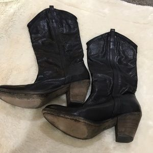 Black Frye Leather Boots Size Size 9.5